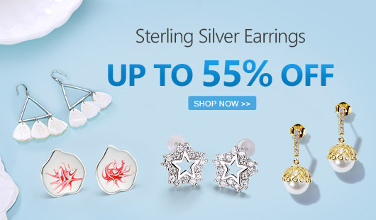 Sterling Silver Earrings UP TO 55% OFF