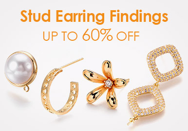 Stud Earring Findings Up to 60% OFF