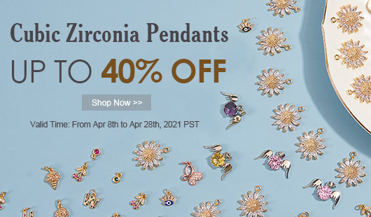 Cubic Zirconia Pendants UP TO 40% OFF