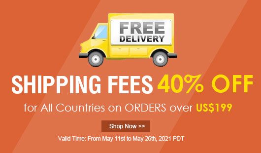 40% OFF Shipping Fee
