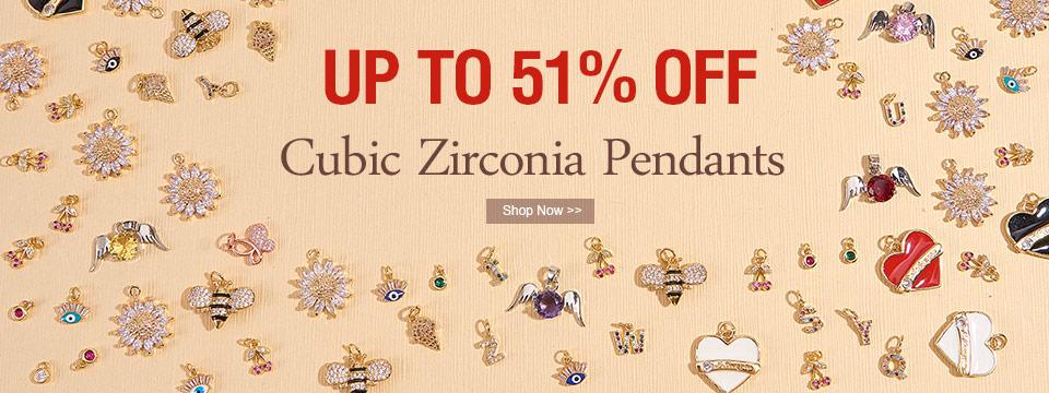 Cubic Zirconia Pendants UP TO 51% OFF