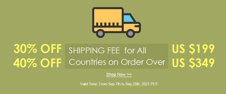 Up to 40% OFF Shipping Fee