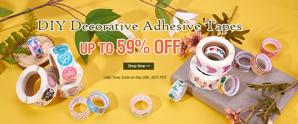 DIY Decorative Adhesive Tapes UP TO 59% OFF