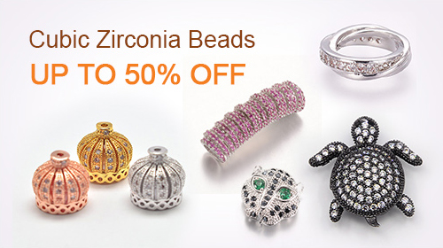 Cubic Zirconia Beads UP TO 50% OFF